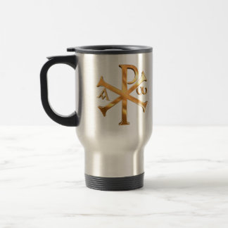 Gold Chi-Rho Travel Mug