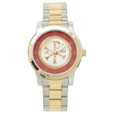 Gold Chi-Rho Wristwatch