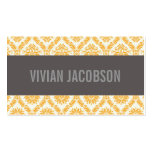 GOLD CHIC DAMASK   BUSINESS CARDS