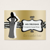 gold chic fashion boutique Business Cards