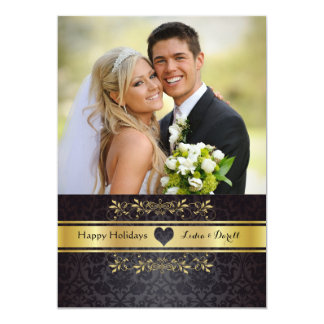 Gold Chic Photo Holiday Card