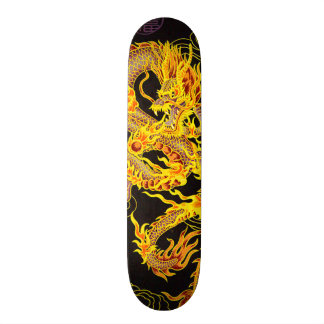 Gold Chinese Emperor Dragon Element Custom Pro Skateboard