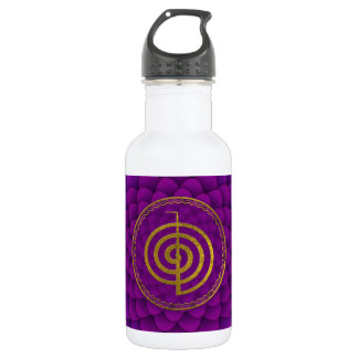 Gold  Choku Rei Symbol on lotus Water Bottle