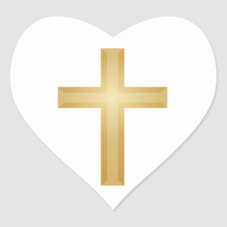 Gold Christian Cross Stickers