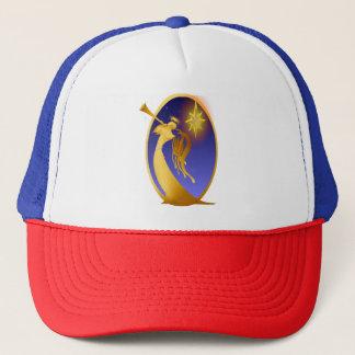 Gold Christmas Angel Oval Trucker Hat