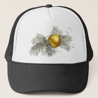 Gold Christmas Ball Trucker Hat