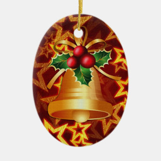 gold christmas bell ornament