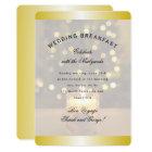 Gold Christmas Candle Wedding Breakfast Invitation