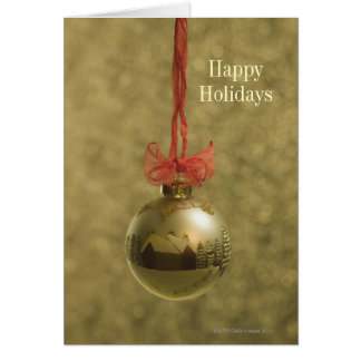 Gold Christmas Card