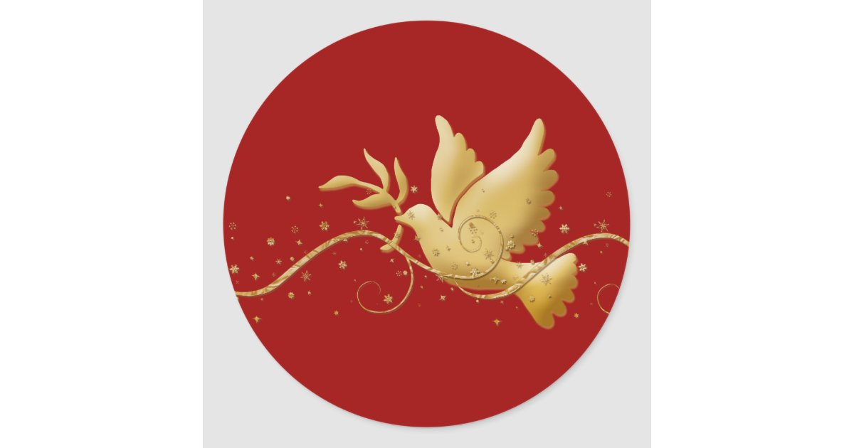 Gold Christmas dove of peace christian event stick Classic ...