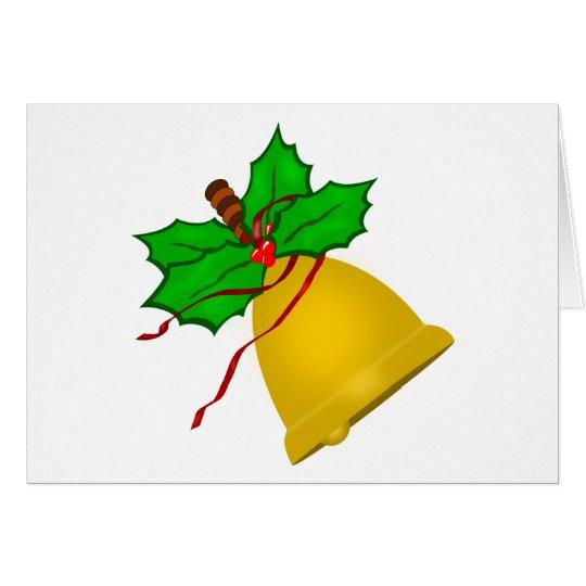 Gold Christmas Handbell Card