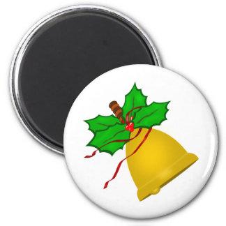 Gold Christmas Handbell Magnet