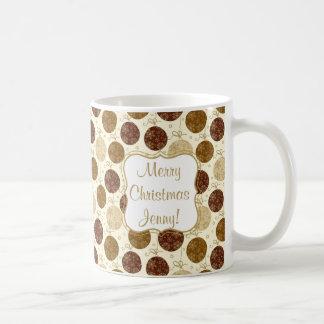 Gold Christmas Hanging Glass Balls Coffee Mug