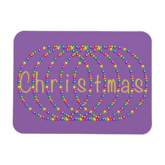 Gold Christmas Lights Design on Lt. Purple Magnet