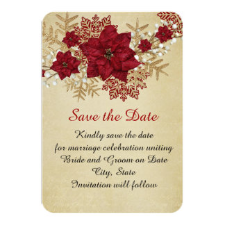 Gold Christmas Miracle Save the date Card