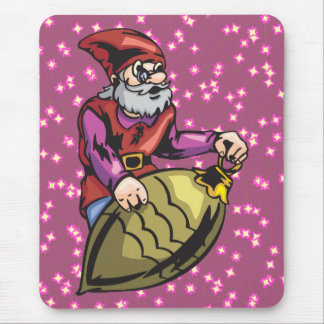 Gold Christmas Ornament and Elf Mouse Pad