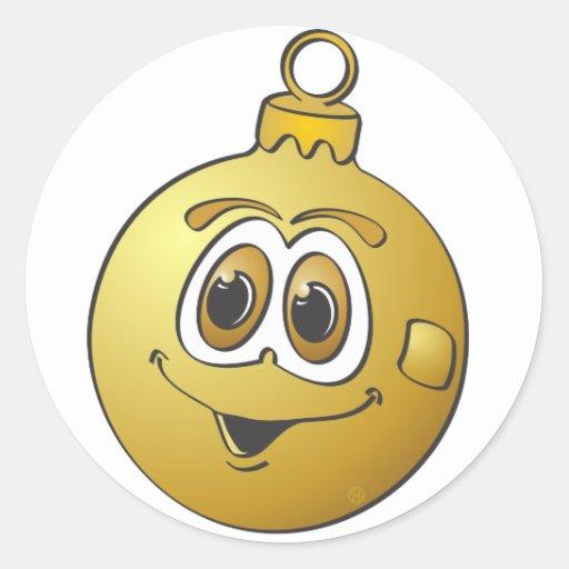 Gold Christmas Ornament Cartoon.png Sticker