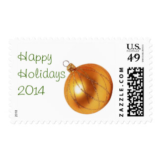 Gold Christmas Ornament Happy Holiday  Stamps