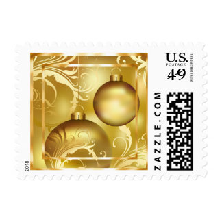 Gold Christmas Ornaments Stamps
