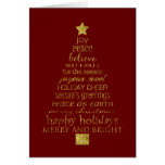 Gold Christmas Tree Card