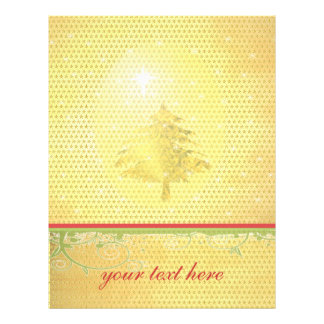 Gold Christmas Tree with Stars Flyer