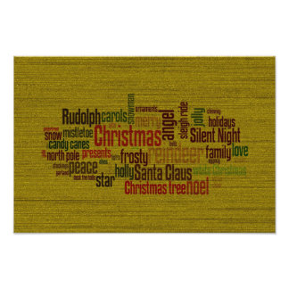 Gold Christmas Word Cloud Photo