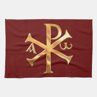 Gold Christogram Hand Towel