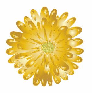 Gold Chrysanthemum Magnet Sculpture Photo Sculpture Magnet