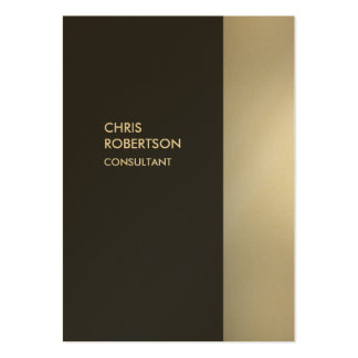 Gold Chubby Stylish Gray Vertical Business Card
