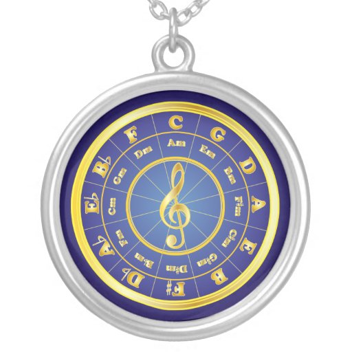 Gold Circle of Fifths Pendant