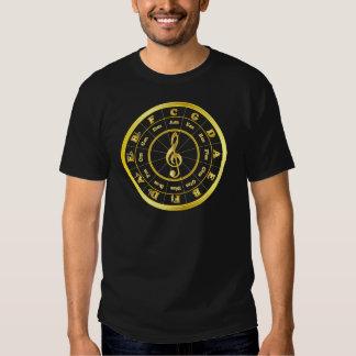 """Gold"" Circle of Fifths Shirt"