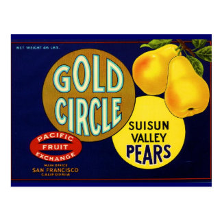 Gold Circle Pears Postcards