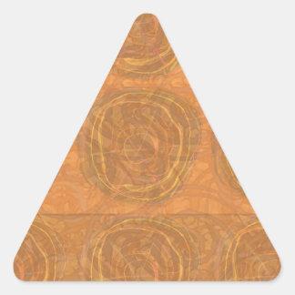 Gold Circle Symbols from Cave Art: Enjoy SHARE Joy Triangle Sticker