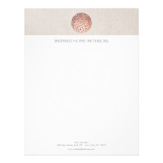 Gold Circles and Confetti Letterhead