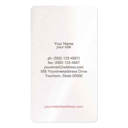 Gold Circles & Colorful Confetti Beauty Salon Fun Business Card Templates (back side)