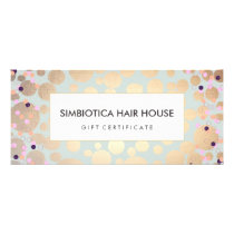 Gold Circles Confetti Salon Spa Gift Certificate