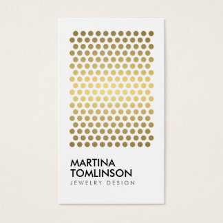 Gold Circles on White Designer Business Card
