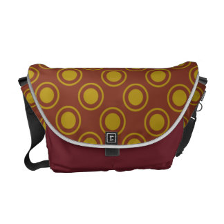 Gold Circles On Wine Background messenger Bag