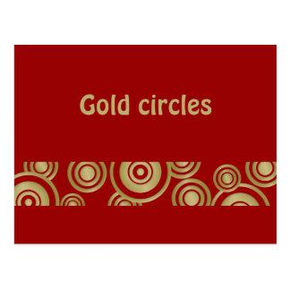 gold circles postcard
