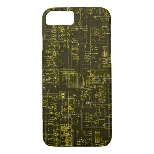 Gold Circuit Board Blueprint Design IPhone 8/7 Case