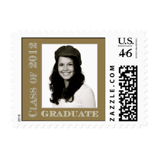 Gold Class of 2012 Graduate Photo Postage