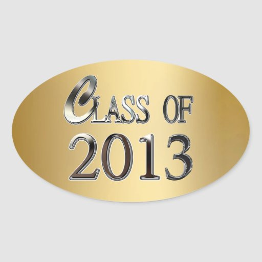 Gold Class Of 2013 Graduation Seal Stickers