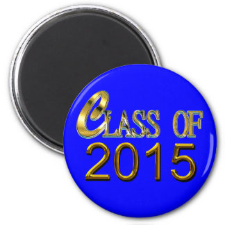 Gold Class Of 2015, Blue Or Any Color, Grad Magnet