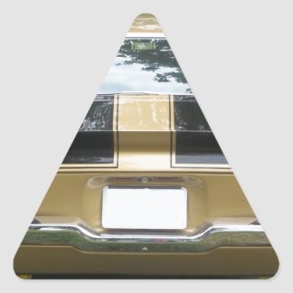 Gold classic 1970's or 1980's Muscle Car Triangle Sticker
