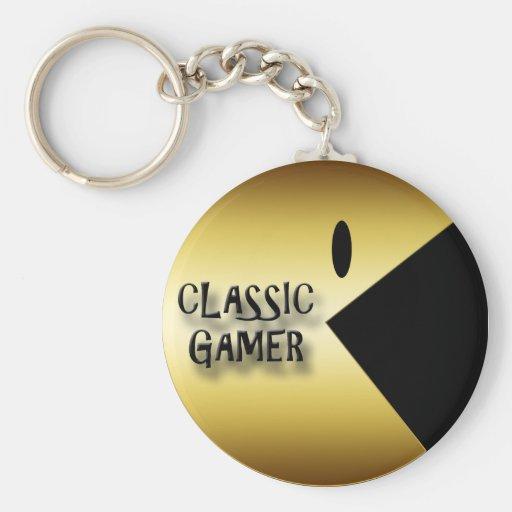 GOLD CLASSIC GAMER KEYCHAIN