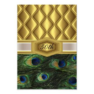 Gold  classic Peacock Birthday Invitation