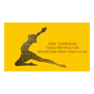 GOLD CLASSIC YOGA BUSINESS CARD