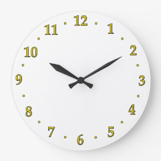 Gold Clock Number Face Template Use Your Design