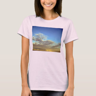Gold Cloud Layer And Blue Sky T-Shirt