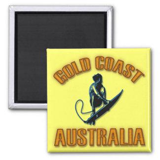 GOLD COAST AUSTRALIA IMÁN CUADRADO